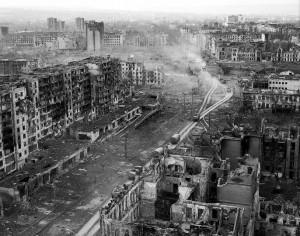 Город Грозный, уничтоженный российскими войсками в 1995 году